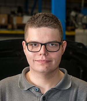 Stagiar automonteur Rutger Dekker