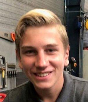 Leerling automonteur Jordan Kooij